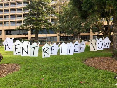 rent relief protest